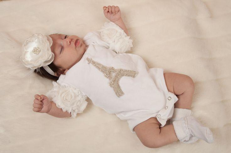 White Infant Baby Girl One Piece Set White by MyLolliflopsLLC