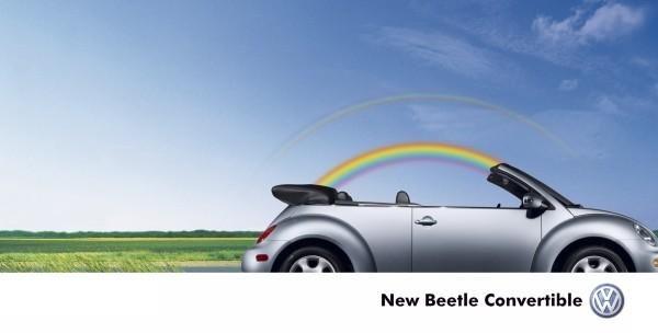 RAINBOW, VW Beetle Convertible