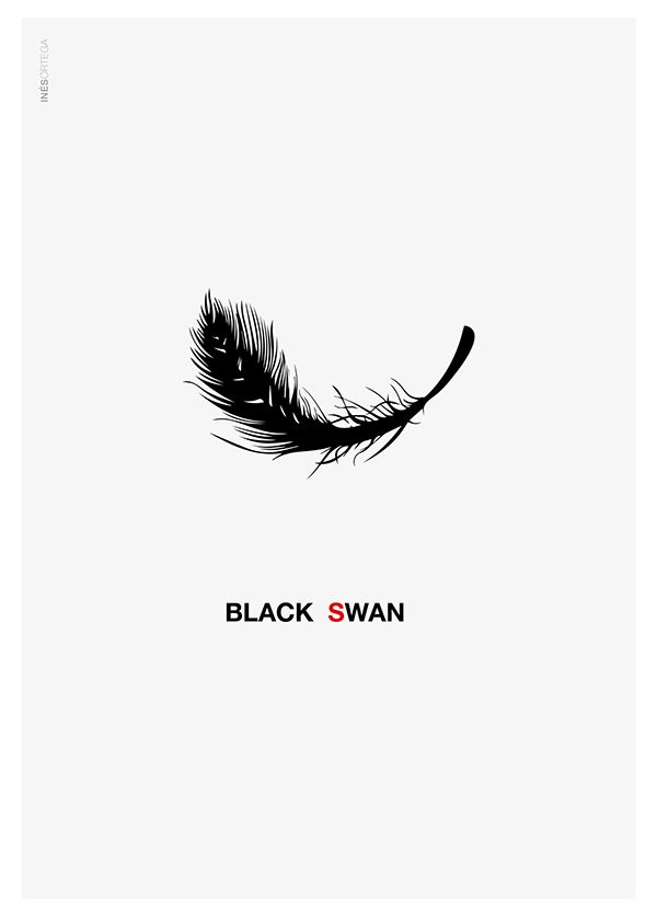 Black Swan (2010) ~ Minimal Movie Poster by Ines Ortega San Miguel #amusementphile