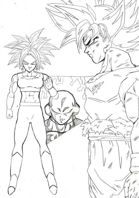 Image Of Goku Vs Hit Para Colorear A Battle For Survival Goku Vs Hit