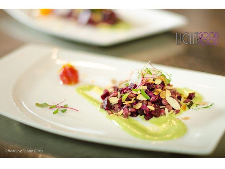 salata linte, sfecla, mousse de busuioc 2