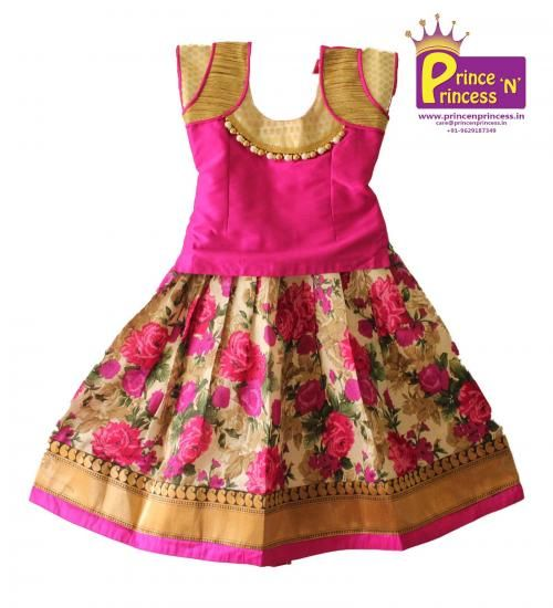 BUY Cute Floral design Pavadai Sattai Langa .. beautiful skirt online @ www.princenprince... .. Pattu Pavadai South India's Traditional wear..www.princenprince... #kids #choli #pattu #pavadai #girls #silk #traditional #designer #creative #indian #lehenga #kidswear #skirt #trendy #children #clothes #new #stylish #dresses #partywear #apparel #fashion #readymade #girl #dress #langa #voni