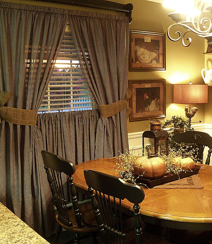 Fall Decorating Ideas For The Dining Room: Country & Primitive