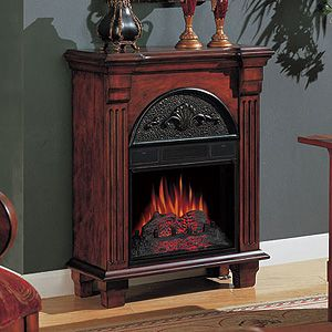 Regent Antique Mahogany Electric Fireplace Petit Foyer Mantel Package - 18PF338-M215