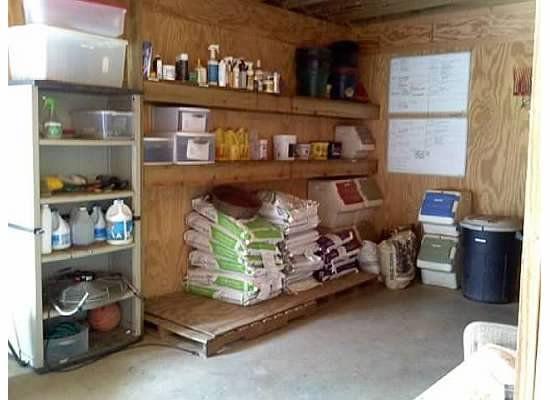 horse barn feed room 5