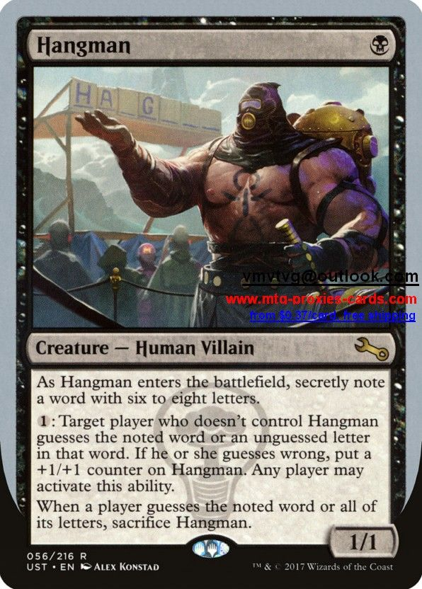 UST - Unstable Magic the Gathering Proxy Cards customize mtg proxy from $0.37 free shipping Hangman.xlhq