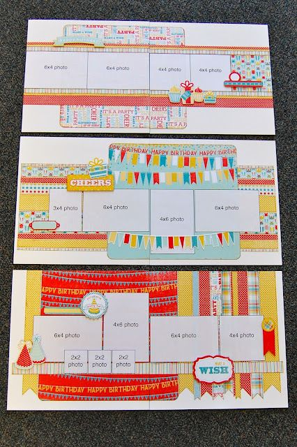 3 double page layout ideas from scrapbook generation