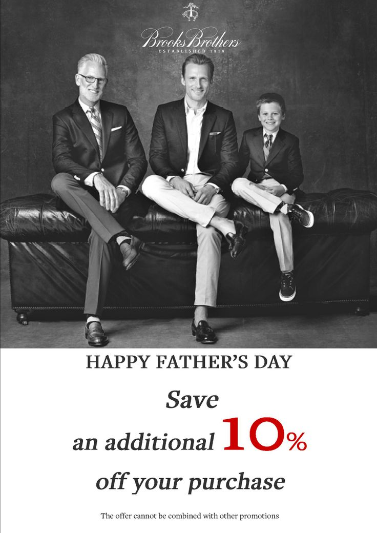 Save 10% at @Brooks Brothers on #RegentStreet this #FathersDay