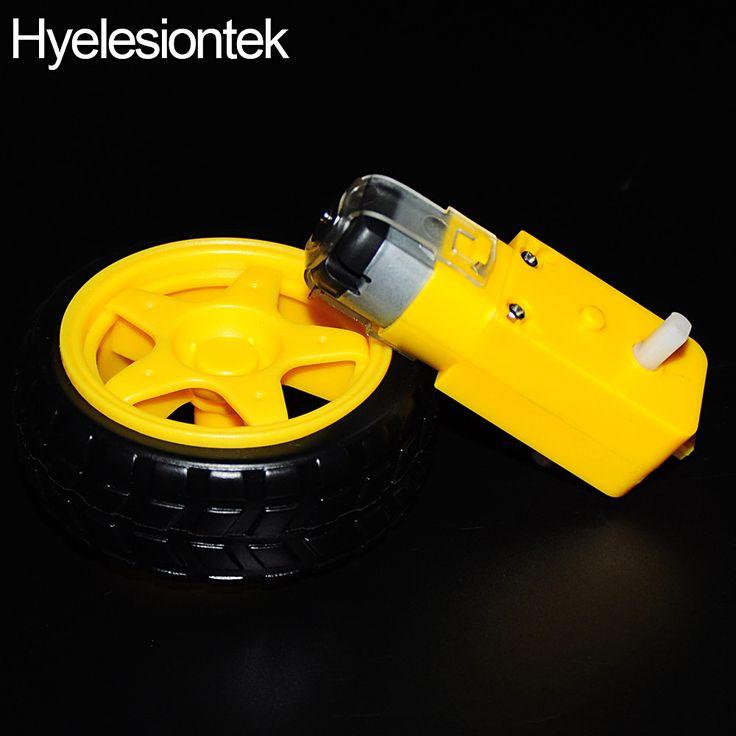 1Set 1:48 Remote Car Robot Gears Driver Motor + Tyre Tires Wheel for Arduino Plastic Gears Intelligent Smart Car DIY Accessories
