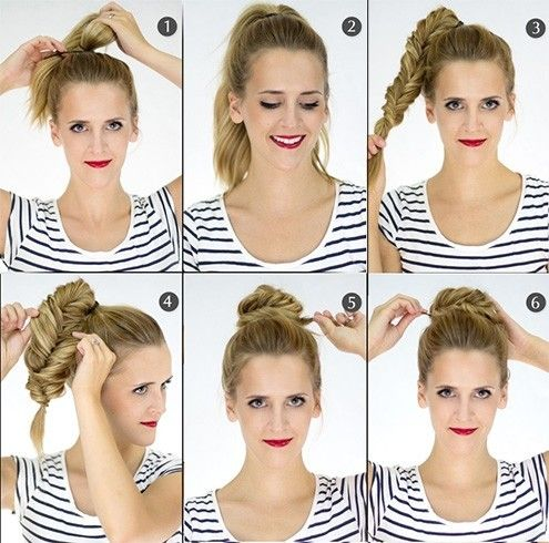 1000 ideas about braided top knots on pinterest curly. Black Bedroom Furniture Sets. Home Design Ideas