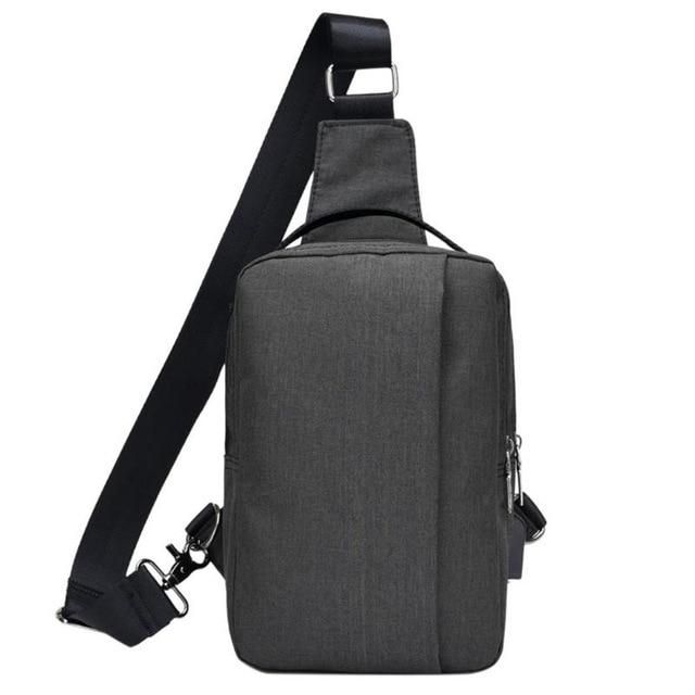 Men Chest Sling Shoulder Bag Backpack Anti-theft Crossbody Casual Camping Travel