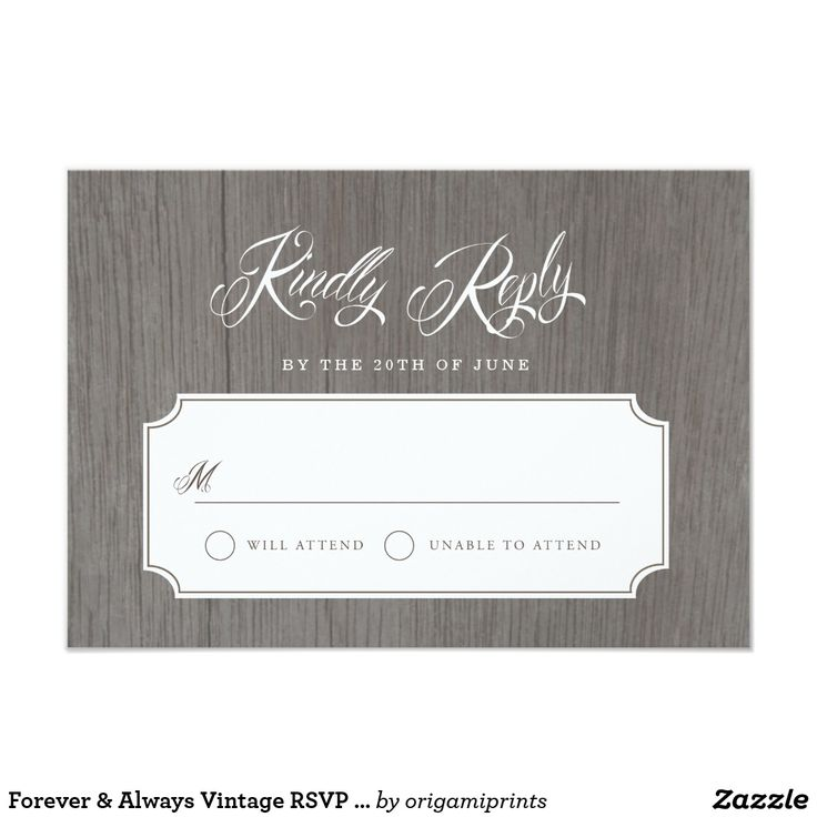 Forever & Always Vintage RSVP Cards Elegant vintage portrait inspired ivory and brown design by Shelby Allison. Perfect for a rustic wedding! For matching invitations, reply cards, stickers and other items click on the link below to view the entire Forever & Always collection.