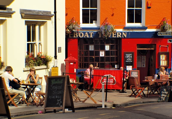 We ate lunch at the Boat Tavern in Tenby
