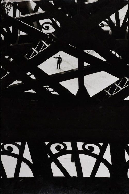 Shot throughout the Eiffel Tower by Marc Riboud, 1964.