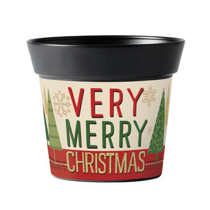 "Elizabeth Silver: Woodland Very Merry 6"" Art Pot   Studio M Outdoor"