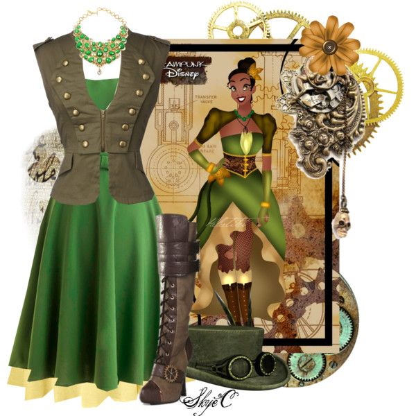"""Tiana - Steampunk - Disney's Princess and the Frog"" by rubytyra on Polyvore"