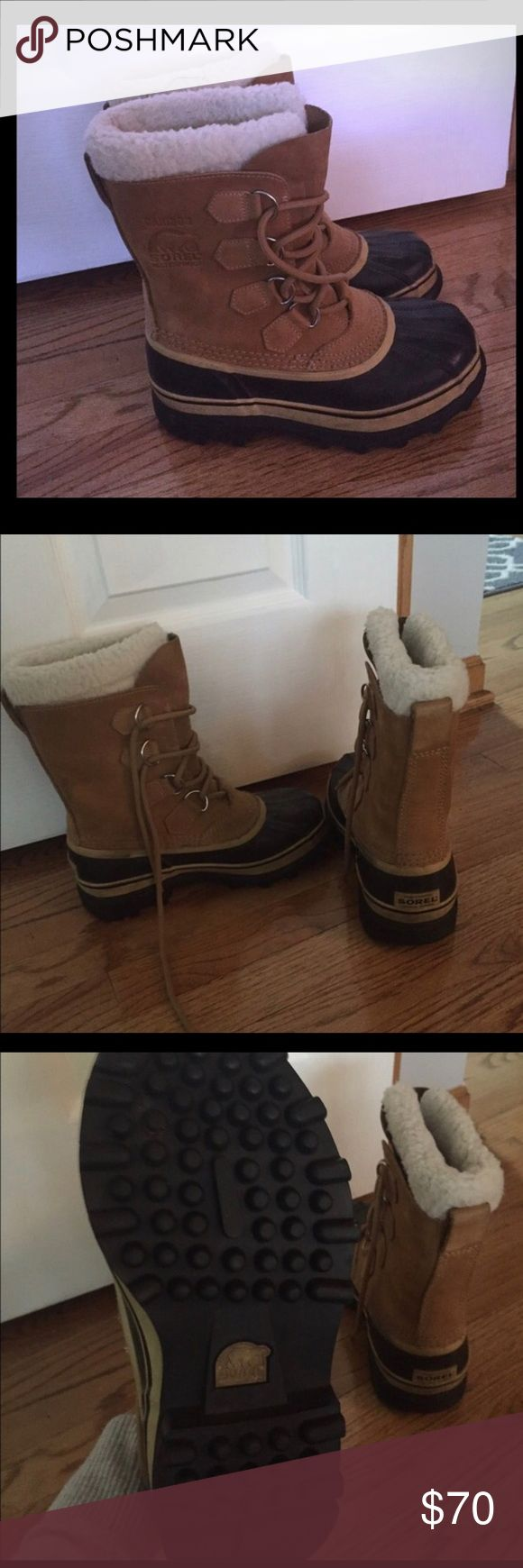 Sorel boots. Great condition. Run big. Men's Sz 6. Would fit: Women's Sz 7 to 7.5. Sorel Shoes Winter & Rain Boots