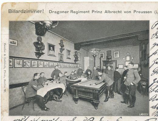 Tilsit, Bahnhofstr., Dragoner-Kaserne, Billardzimmer