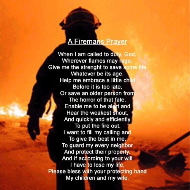 Fire fighter prayer