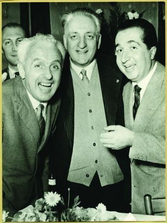 Gigi Villoresi, Enzo Ferrari and Alberto Ascari, 1953