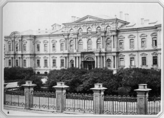 Imperial Corps of Pages Building (former Vorontsov Palace),St. Petersburg,Russia in the 1860s.