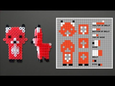 Cute 3D Fox Perler Bead Pattern. Laceys Crafts is all about sharing super simple and adorable crafts for kids. Enjoy!