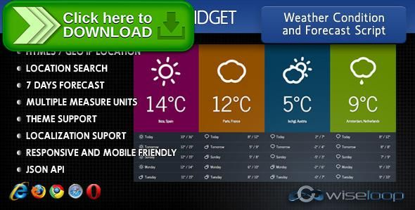 [ThemeForest]Free nulled download Javascript Premium Weather Widget from http://zippyfile.download/f.php?id=46777 Tags: ecommerce, forecast angularjs module, forecast script, geolocation angularjs module, javascript forecast widget, javascript geolocation, javascript weather API, javascript weather condition, javascript weather forecast, javascript weather news, javascript weather widget, weather angularjs module, weather condition script, weather forecast, weather forecast sc