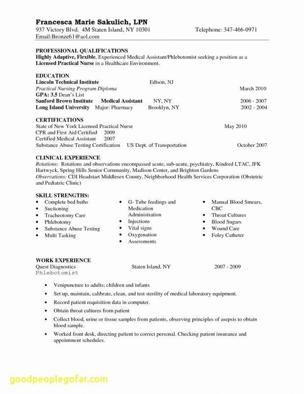 Nurse Report Template Awesome Resume Sample Nurses Experience Valid Rn Resume Sample L New Grad Nursing Resume Nursing Resume Template Medical Assistant Resume