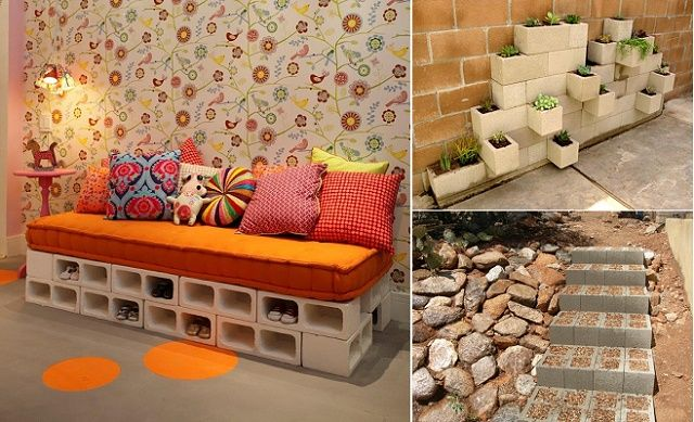 10 Cool Ideas To Decorate Your Home with Concrete Blocks - http://www.amazinginteriordesign.com/10-cool-ideas-decorate-home-concrete-blocks/