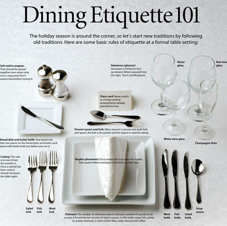 Dinning etiquette  sc 1 st  Pinterest & 14 best Dinning Etiquette images on Pinterest   Table settings ...