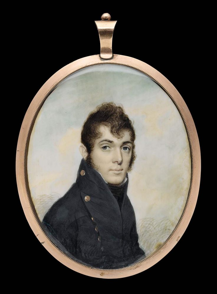 Commodore Oliver Hazard Perry - about 1807 - Joseph Wood (American, 1778–1830) - Dimensions: 2 15/16 x 2 3/8 in., Watercolor on ivory. Oliver Hazard Perry (1785 – 1819) was an American naval commander, born in South Kingstown, Rhode Island.  Perry served in the West Indies during the Quasi War with France, the Mediterranean during the Barbary Wars, in the Caribbean fighting piracy & the slave trade, but is most noted for his heroic role in the War of 1812 during the Battle of Lake Erie.