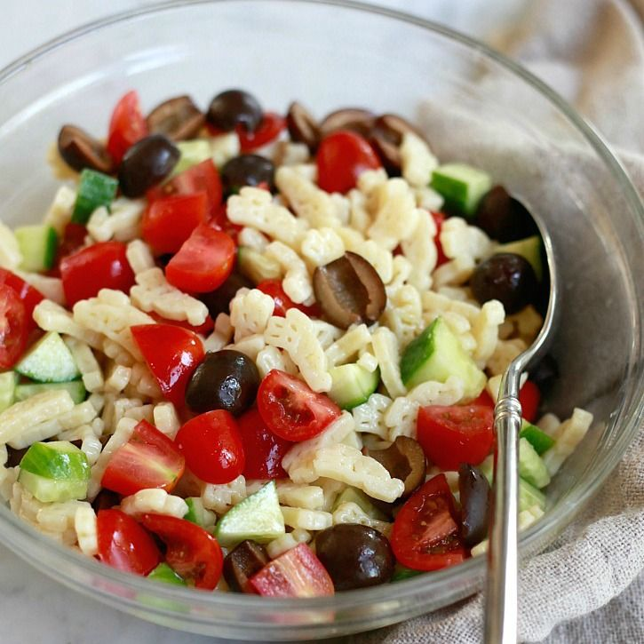 Pasta Salad for Kids | Yummy Mummy Kitchen | A Vibrant Vegetarian Blog