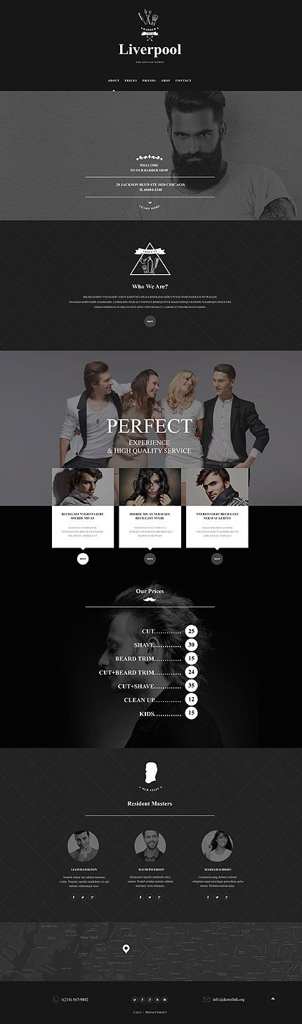 Barber Shop Dark Site #Muse #template. #themes #business #webtemplates