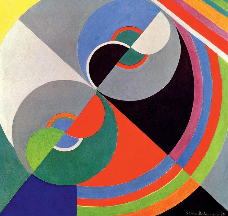 Sonia Delaunay, Rhythm Colour no. 1076 (1939) Centre National des Arts Plastiques/Fonds National d'Art Contemporain, Paris, on loan to Palais des Beaux-Arts de Lille © Pracusa 2014083