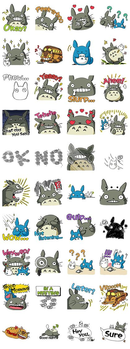 http://www.line-stickers.com/ – My Neighbor Totoro Line Sticker | Enjoy free Totoro stickers to celebrate the launch of a new Ghibli service on au Smart Pass! Add au's Official Account to get them? Available till 08/07/13 Totoro has come to LINE in a totally new way! These expressively intriguing stickers feature original illustrations by none other than …