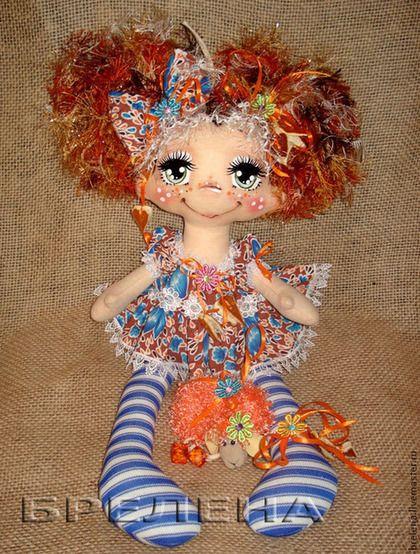 Текстильная кукла Моя Апельсинка. - текстильная кукла,купить куклу