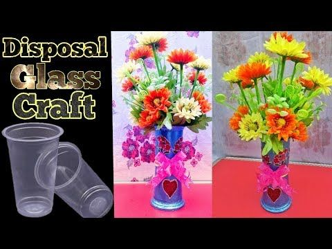 194 & DIY/Flower Pot out of Disposable Plastic Glass/Best Out Of Waste ...