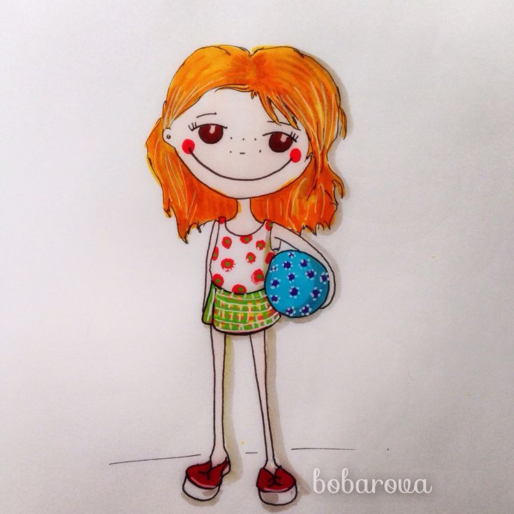 #bobarova #drawing  #illustration #watercolor #illustrationgirls #childrenillustration