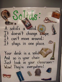 Here's a terrific set of posters for studying solids, liquids and gases.