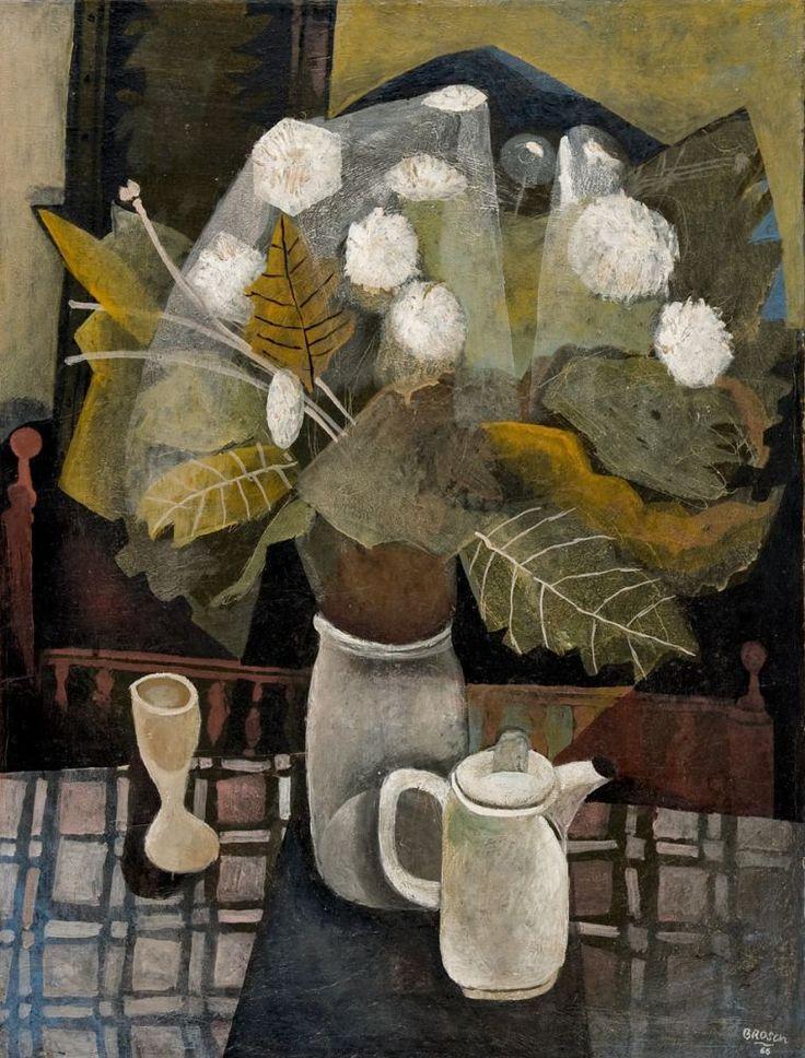 Hans Brosch (German, born 1943)Still Life with Flowers (Blumenstilleben), 1966Oil on canvas