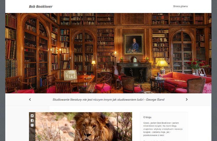 Bob Booklover - blog dla miłośników książek. Recenzje, biografie pisarzy, ciekawostki czytelnicze.