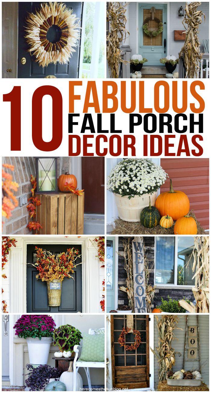 Check out these FABULOUS fall porch decor ideas! So pretty!