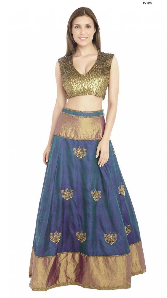 Available Plus Siz Long Anarkali Lehenga Choli Indian Partywear Skirt PS-2096 #EthnicDresses #SalwarKameez