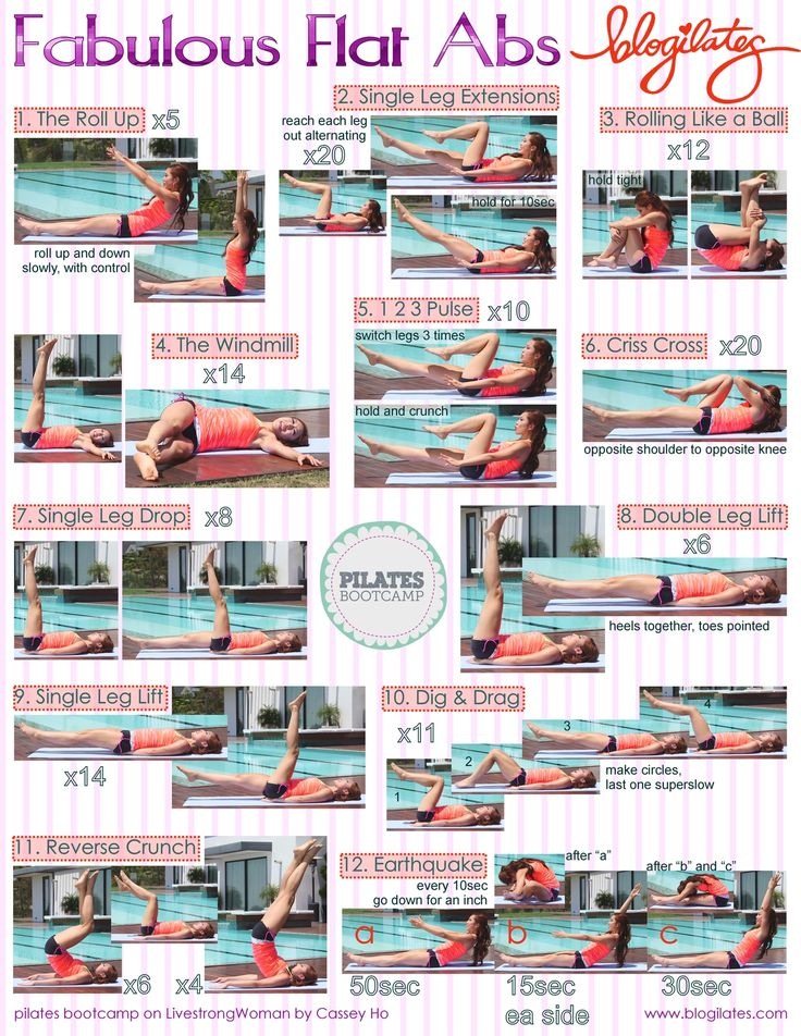 Fabulous Flat Abs #printable #workout
