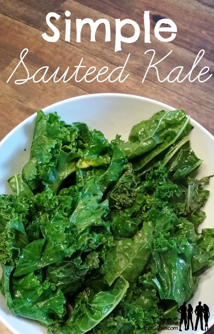 Kale sautéed with salt, pepper and garlic powder.