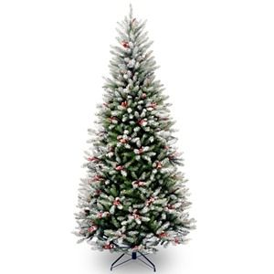 National Tree Co. Frosted Winfield Artificial Christmas Tree-Slim