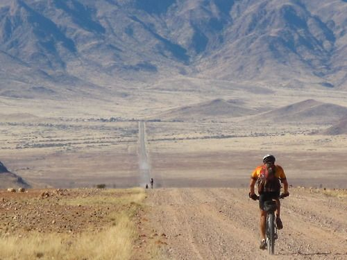 Namibia - Cyclists encounter rugged mountains, the world's oldest desert, the largest canyon in Africa, wild rivers, a nearly thousand-mile coastline, and vast national parks #Biking