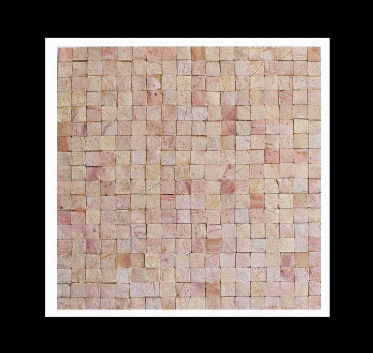 Design Naturstein Mosaik Zemant-Fliese, eine Mosaikfliese aus der Serie Monochrom - Die sehr fein und mit großem handwerklichen Geschick gearbeiteten Mosaike der Serie Monochrom werden per Hand auf Zement Fliesen aufgebracht.  #design #fliesen #mosaik #mosaikfliesen #naturstein #badezimmer #bad #luxus #wellnessbereich #spa #zementfliese