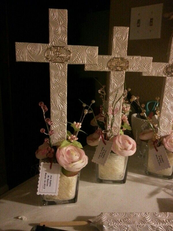 baptism centerpieces for girls