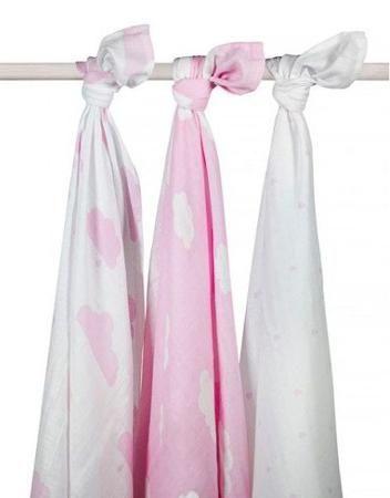 Jollein муслиновые 115х115 см 3 шт. розовые облака  — 2100р. --- Комплект пеленок 115х115 см 3 шт. Jollein сделан из мягкой дышащей ткани - муслина. Пеленки идеально подойдут для каждодневного использования: во время кормления, переодевания, в качестве легкого одеяла или накидки.